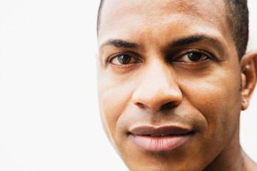Close up of mixed race man