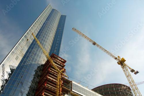Leinwandbild Motiv Construction work site