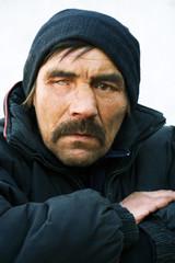 Portrait of homeless.