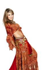 Belly Dancer smile and dance / Bauchtanz