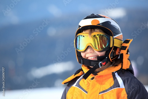 Young boy skier