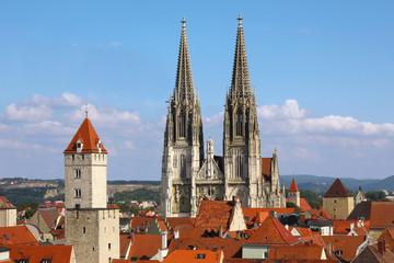 Regensburg mit Dom - Regensburg w/ Cathedral (UNESCO site)