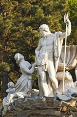 Neptune fountain in Schonbrunn, Vienna, Austria