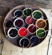 Cups of paint