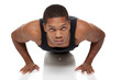 muscular man pushups