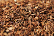 Macro of healthy red bush tea from South Africa