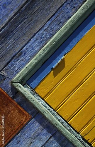 Volets et fen tre vintage vieux maison bois peinture by - Peinture effet vieux bois ...