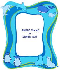 ocean animal frame