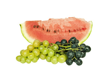 Fresh fruit - watermelon with grapes