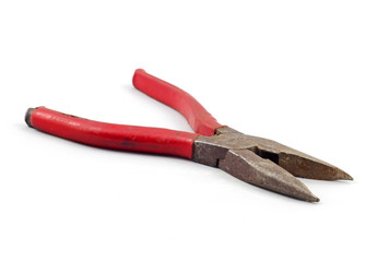 Old Pliers with red handles