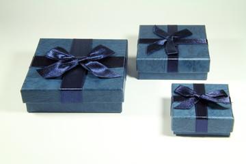 tre scatole regalo