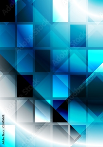 Vibrant abstraction with squares