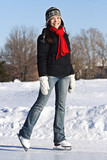 Ice Skating Woman