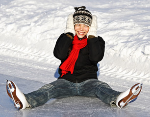Winter Girl ice skating