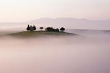Fototapety Hügellandschaft der Toskana im Morgennebel