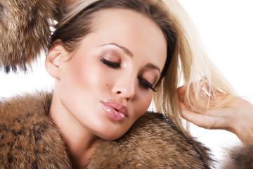 Gorgeous woman in fur