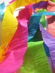 Stripes of decorative paper in colors of raibow