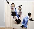 Korean children in superhero costumes