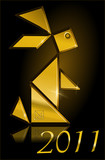 2011, metal-rabbit year, tangram