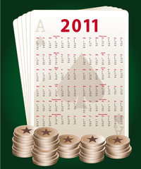 2011 poker calendar english version