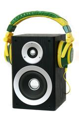 Lautsprecher mit Kopfhörer