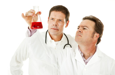 Doctors Examine Blood Sample