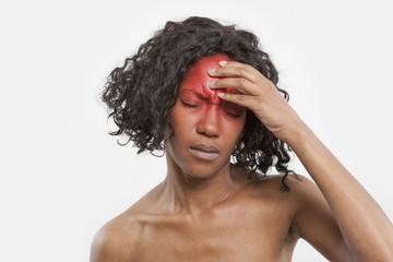 Black woman with headache