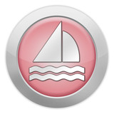 "Light Colored Icon (Red) ""Sailing"""