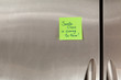 Santa Claus Note on Refrigerator