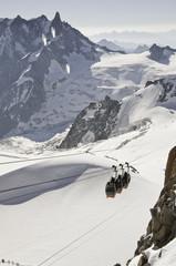Vistas desde l'Aiguille du Midi (3842 metros)