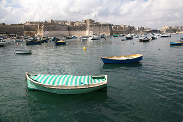 Boats in Kalkara creek