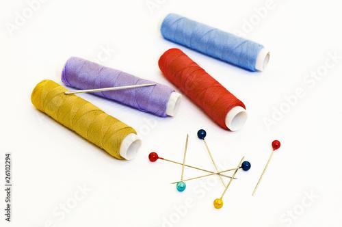 thread spools and needle