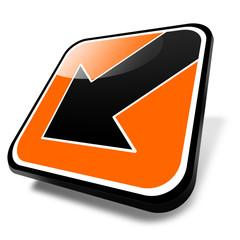 3d button orange, pfeil abwärts, links