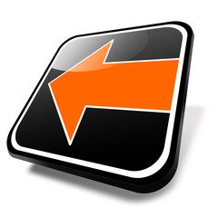 3d button zurück, orange, pfeil rechts
