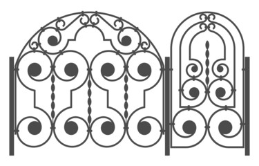 Vector image of fence modules