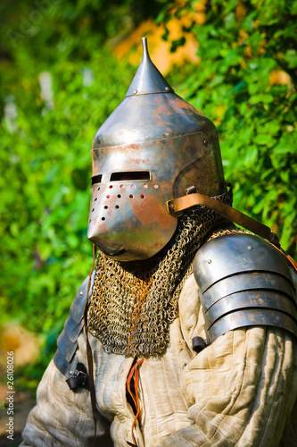 Aluminium Ridders man in knight's helmet