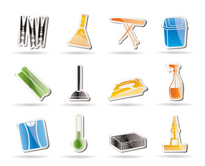 Simple Home objects and tools icons - vector icon set