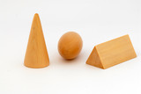 Wooden Blocks - cone, oval, prisms