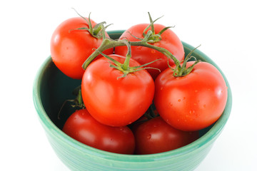 Tomatoes on Vine in Bowl