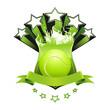Tennis emblem, green