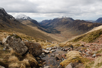 Lake district Landscape Assent of Great Gable