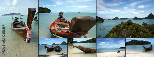 Thailand boat and beach