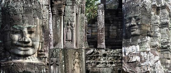 Bayon on of Angkor Wate Temple,Camboya