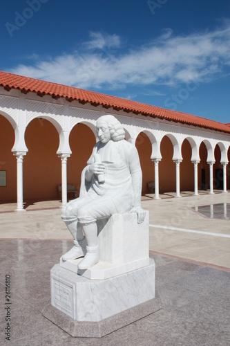 Baruch Spinoza (a statue in the Ralli museum yard, Caesarea)