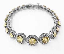 yellow topaz and diamond white gold bracelet