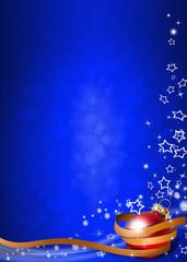 weihnachtlicher Hintergrund modern Hochformat blau