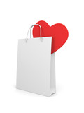 Shopping bag with heart