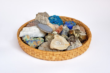 Basket of stones