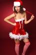 süße Weihnachtsfrau