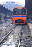 Perspective of Thai Red Sprinter train, Diesel locomotive poster